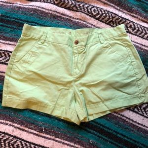 GAP Bright Green Khaki Midi Shorts